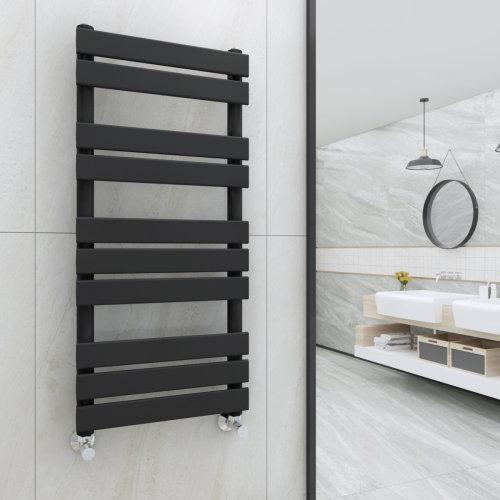 Juva 1000 x 450mm Sand Grey Flat Panel Heated Towel Rail