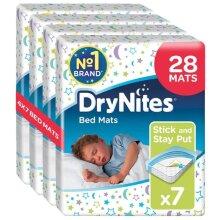 Huggies DryNites Disposable Bed Mats, Mattress Protector, 4 Packs of 7 Mats (28 Mats Total)