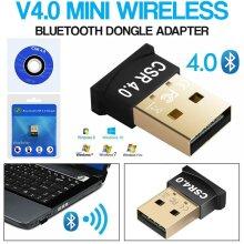USB Bluetooth V4.0 CSR Wireless Mini Dongle Adapter For Win7 8 10 PC