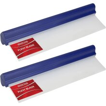 GADLANE Flexy Water Blade Soft Silicone Car Squeegee Glass Window Windscreen Wiper Clean Drying Flexi Squeegy 30cm - PACK OF 2