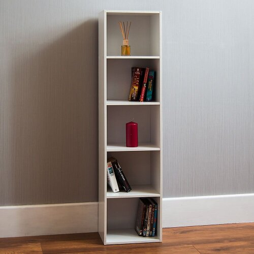 Oxford 5 Tier Cube Bookcase Storage Shelf Display
