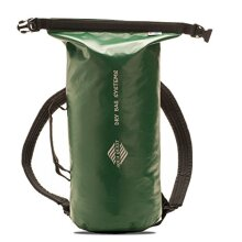 Aqua Quest Mariner Backpack - 100% Waterproof Lightweight Dry Bag - 10 Liter - Green