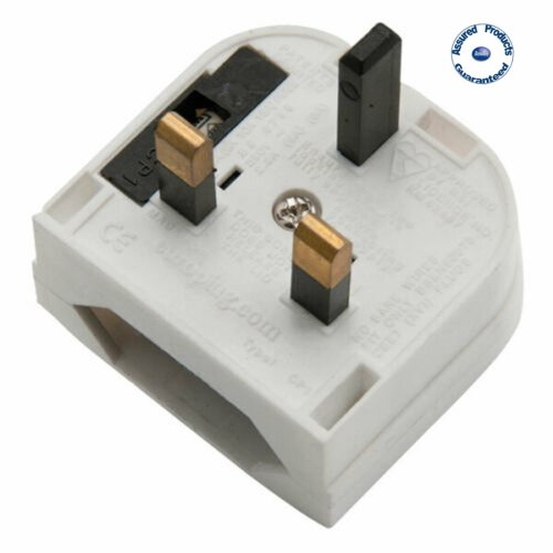 Power Connections CP1F White - CEE7 Europlug To UK Converter (5 Amp Fuse)