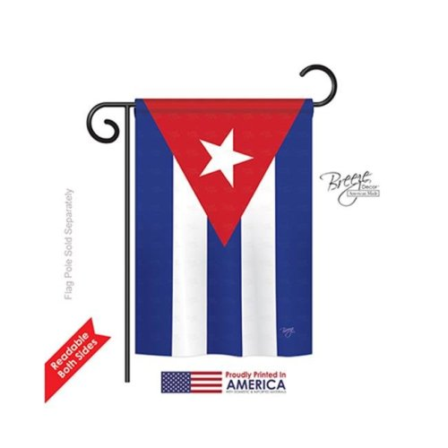 Breeze Decor 58223 Cuba 2-Sided Impression Garden Flag - 13 x 18.5 in.