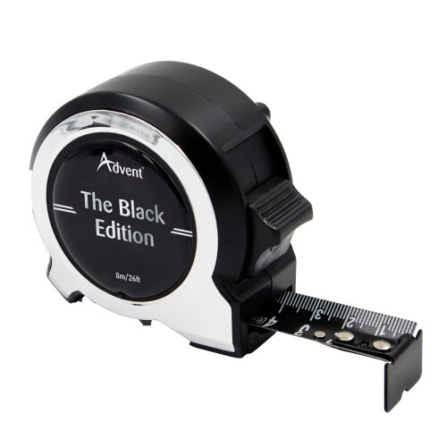Advent Black Edition Tape Measure 8m/26ft Metric & Imperial ATM1-8025