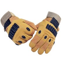 Tactical Full Finger Glove Outdoor Hunting Sport Cycling Slip Resistant Gloves SAND L