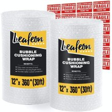 Bubble Cushioning Wrap Roll 2 Pack 30 cm x 9 m (18 m total) - Perforated for Shipping Packing Moving Supplies - Good Bubble Cushioning Wrap for Pack