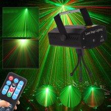 Stage Lights Lighting Laser Strobe Beam Disco DJ Party KTV Projector