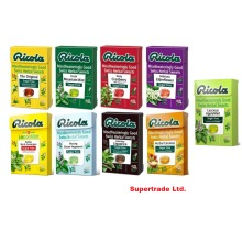 Ricola Mixed Swiss Herbal Lozenges Sweets Sugar Free & With Stevia - 9 X 45g