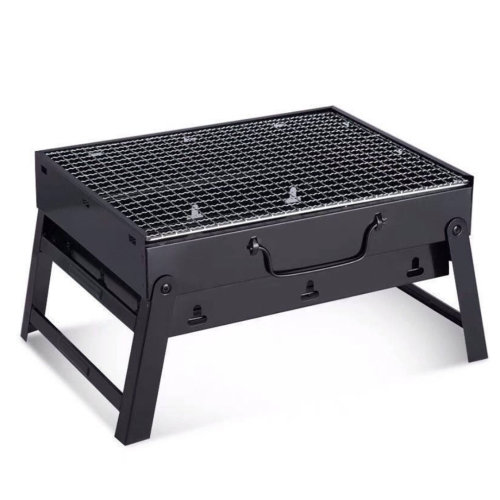 Portable Black Camping Stove | Foldable BBQ Grill