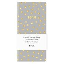 Church Pocket Book and Diary 2018  Gold Polka Dot