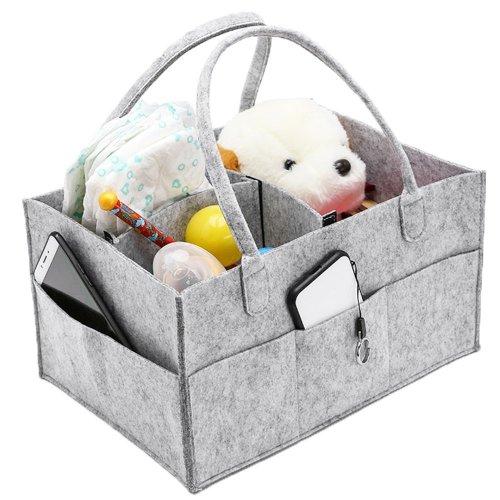 Baby Diaper Caddy Nursery Storage Bin Infant Wipes Bag Nappy Organizer Basket