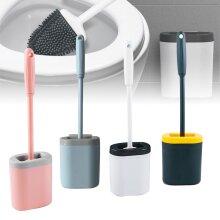Silicone Toilet Brush with Toilet Brush Holder Set