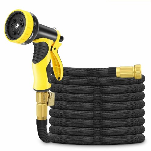 50ft Expandable Garden Hose,Cysmile Triple Layer Latex Core and All Brass...