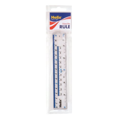Helix 6 inch 15cm Clear Ruler