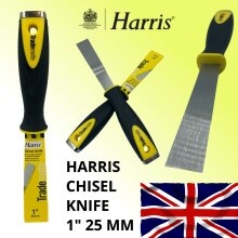 "Harris Chisel Knife 1"" 25mm Heavy Duty Paint Scraper Tool Blade Stainless Steel"