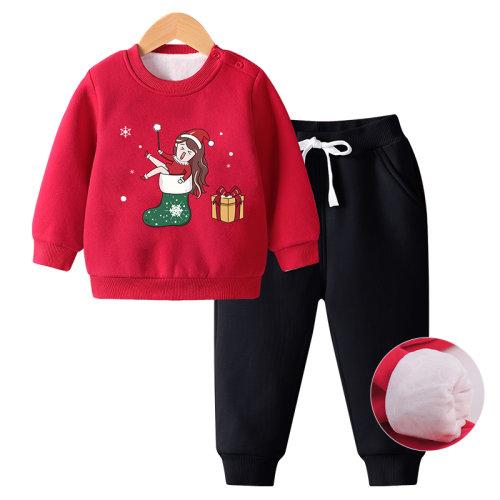 Christmas Kids Sweatshirt Sets Long Sleeve Outfits