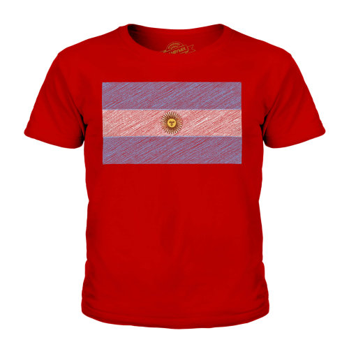 Candymix - Argentina Scribble Flag - Unisex Kid's T-Shirt