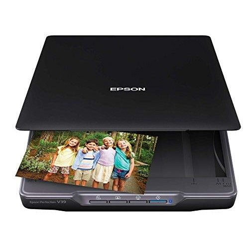 Epson Perfection V39 Color Photo & Document Scanner with Scan-To-Cloud & 4800 Optical Resolution,Black