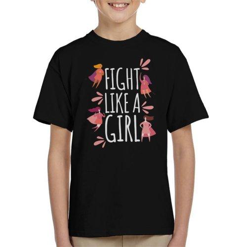 Fight Like A Girl Super Hero Kid's T-Shirt