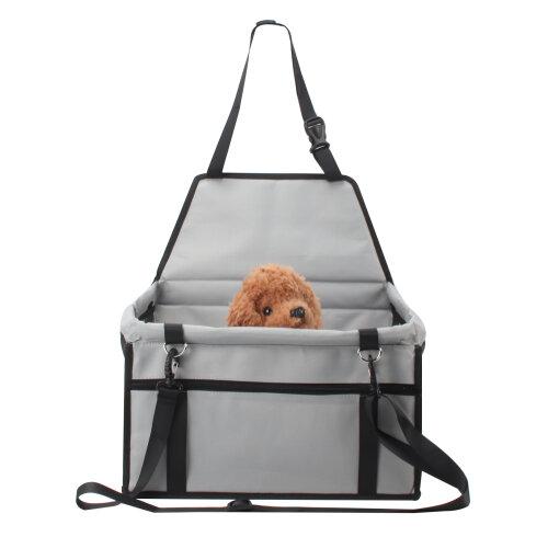 (Grey) Folding Dog Car Seat