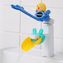 Water Tap Children's Sink Extender Baby Hand Washing Faucet Extension Spout Artifact Water Pipe Splash-proof Cartoon(#01)
