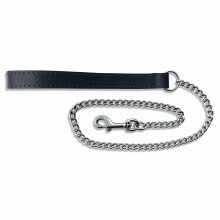 BBD Leather Chain Lead, Black