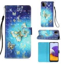 Samaung Galaxy A22 5G Case Pattern Cover Folio with kickstand