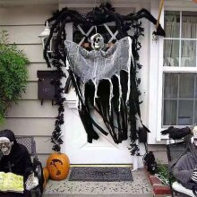 Skull Head Gauze Halloween Hanging  Charm Ghost Pendant Doll Ornament