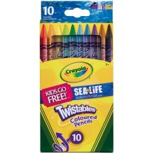 Crayola Twistables Coloured Pencils (Pack of 10)
