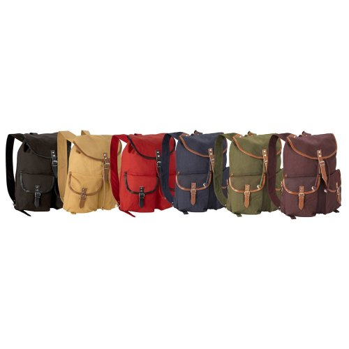 Vintage Style Canvas Backpack Rucksack Daypack