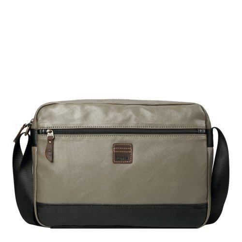 TRP0517 Troop London Heritage Coated Canvas Casual Messenger Bag, Laptop Messenger Bag