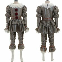 Mens Adults Pennywise Clown Suit Outfits Set Cosplay Costume Fancy Dress Clothes