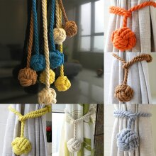 2x Curtain Cotton Rope Ball