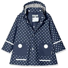 Playshoes Girl's Points Raincoat, Blue, 9-12 months (80)