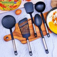 Royalford 5 Piece Nylon Utensil Set Cooking Non Stick Heat Resistant