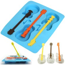 TRIXES Guitar Mould Silicone Ice Cube Tray | Novelty Ice Cube Tray