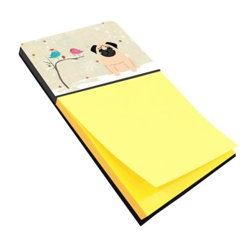 Christmas Presents Between Friends Pug Fawn Sticky Note Holder