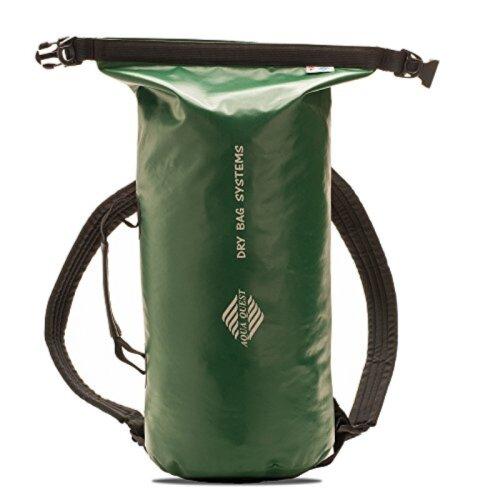 Aqua Quest Mariner Backpack - 100% Waterproof Lightweight Dry Bag - 10 Liter - Green