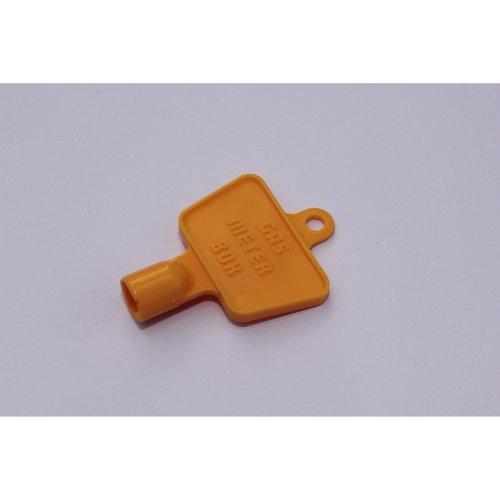 YELLOW PLASTIC GAS/ELECTRIC METER BOX KEY