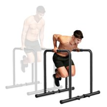 Dripex 500lbs Adjustable Dip Bar Heavy Duty Steel Dip Station, Home Dip Stand with Two Safety Connectors, Parallel Bars Dip Equipment for Calisthenics