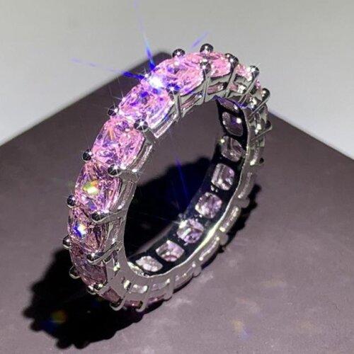 Handmade Eternity Promise ring 925 Sterling silver Band Rings