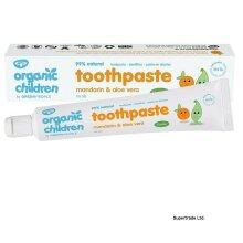 3 X Green People Children Mandarin & Aloe Vera With Fluoride Toothpaste 50 ml