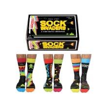 United Oddsocks Sock Invaders Box of 6 Multicoloured Mens Size 6-11