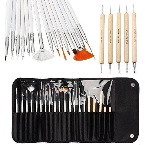 ONE1X® 20pcs Nail Art Designing Painting Detailing Pen Brushes Bundle Tool Kit