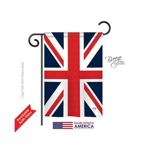 Breeze Decor 58074 UK 2-Sided Impression Garden Flag - 13 x 18.5 in.
