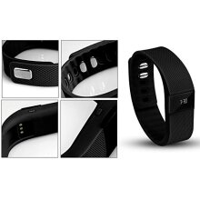 Aquarius Oled Display Bluetooth Fitness Tracker (sports Wristband) Calorie Counter, Distance Measuring - Black