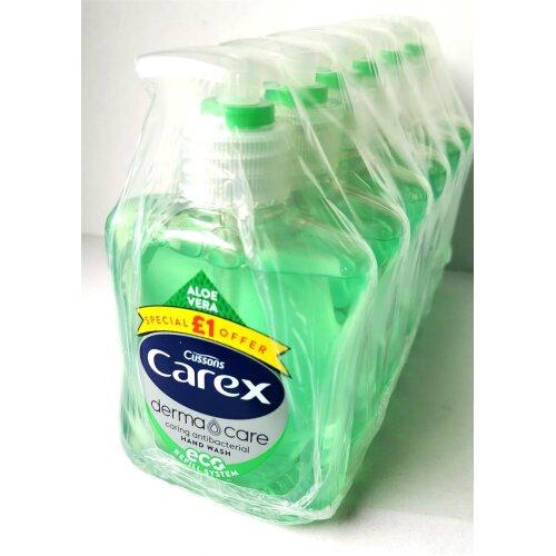 Carex Derma Care Aloe Vera Caring Antibacterial Hand Wash 250ml (Pack of 6)