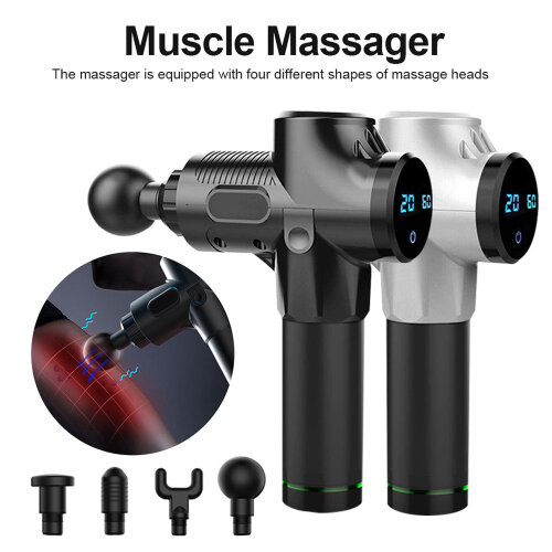 Professional Massage Gun for Athletes deep tissue percussion muscle massger Black