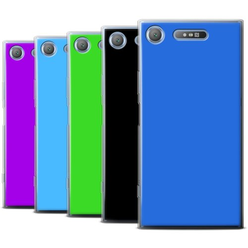 Colours Sony Xperia XZ1 Phone Case Transparent Clear Ultra Soft Flexi Silicone Gel/TPU Bumper Cover for Sony Xperia XZ1
